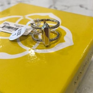 NWT Kendra Scott Abra double band ring
